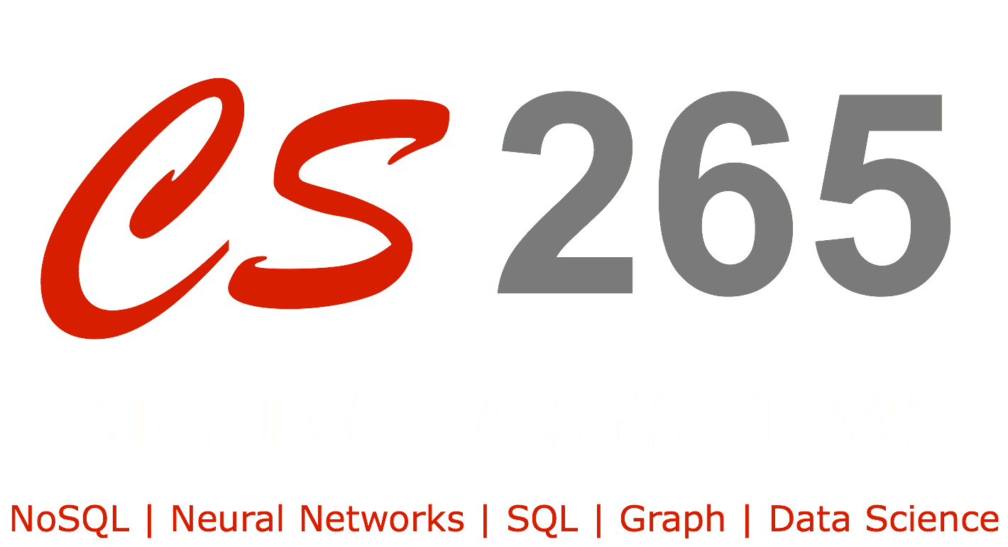 CS265: Big Data Systems - Spring 2019